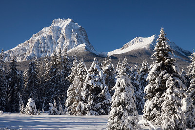 Mount Temple from the Bow Valley Parkway, Banff