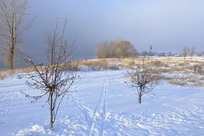 Scène d'hiver à Varennes