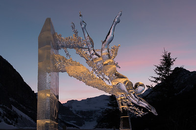 Ice sculpture, Lake Louise Alberta