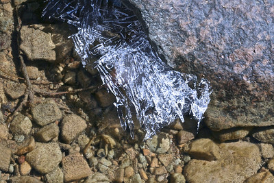 Ice on a creek in Brown County State Park, near Nashville, IN.