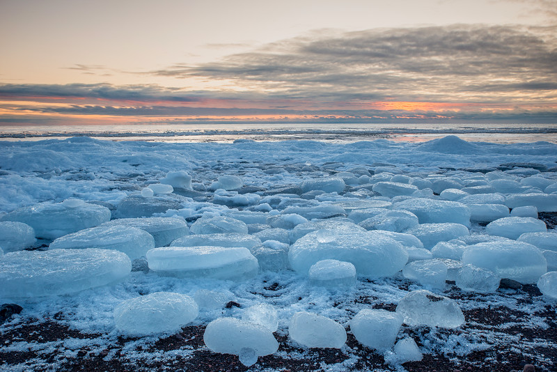 March sunrise on Lake Superior