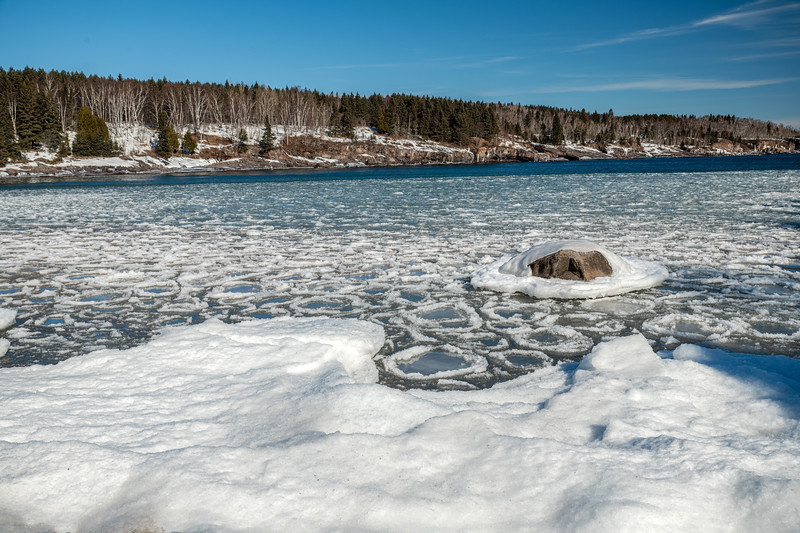 Pancake ice at Sugar Loaf Cove