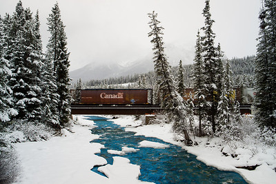 Train at Lake Louise
