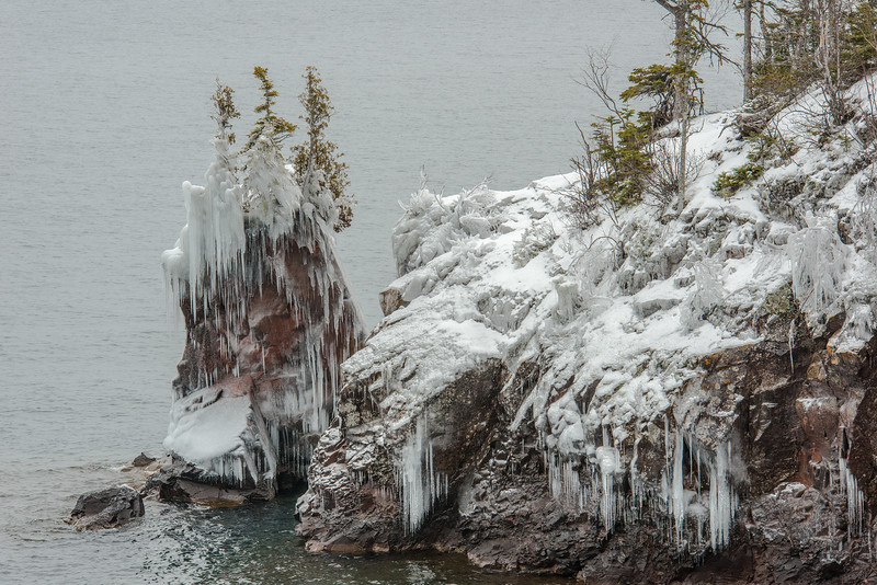 Ice stack at Tettegouche State Park