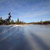 Frozen Elbow River (looking west)