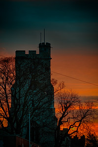 HDR morning sunrise of Holy Trinity Chruch, is situtated at the top of Rayleigh High Street. The church was partly built from the stones of the ruined caste during the 15th century.