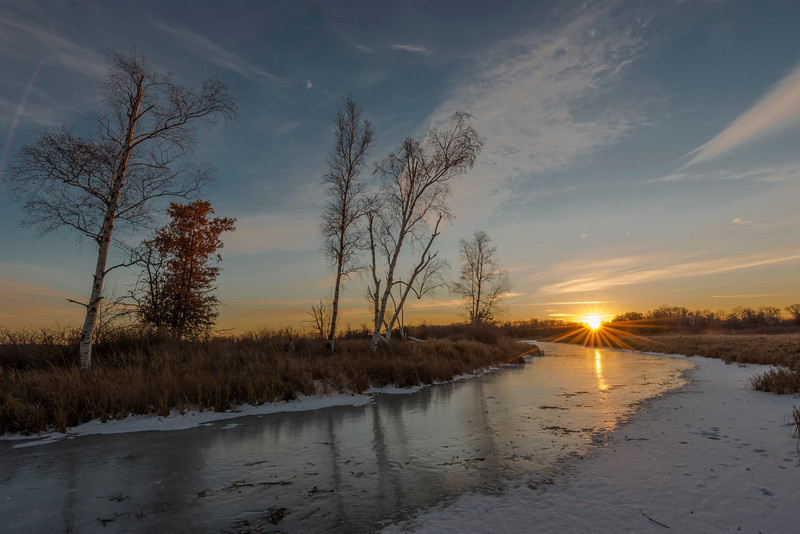 Crex Meadows WMA winter sunset