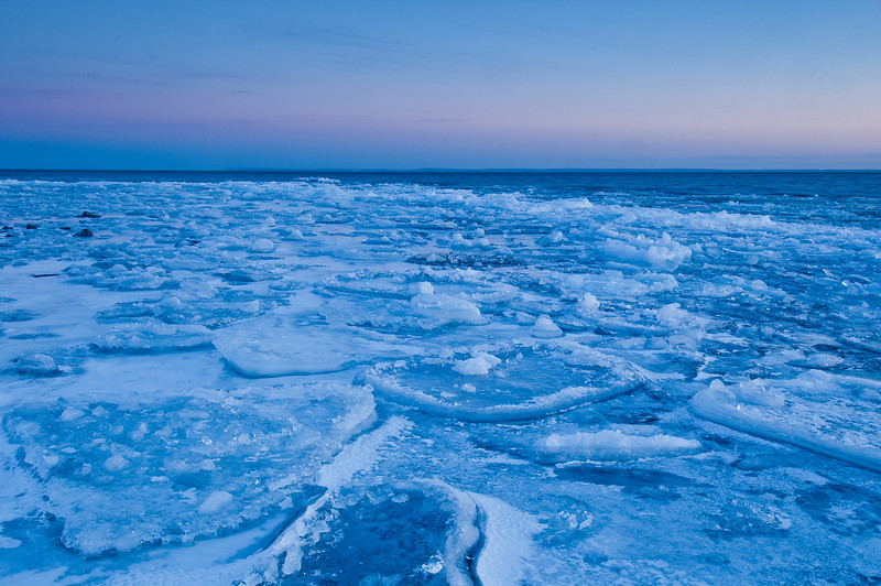 MNWN-11234:Lake Superior twilight in winter
