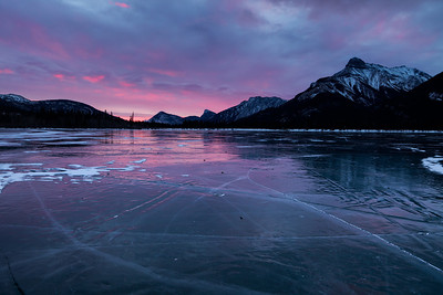 Sunrise at Gap Lake, Exshaw Alberta