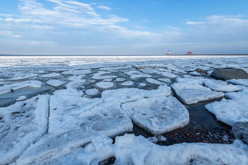 Duluth Harbor ice