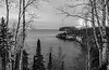 Tettegouche overlook in B & W