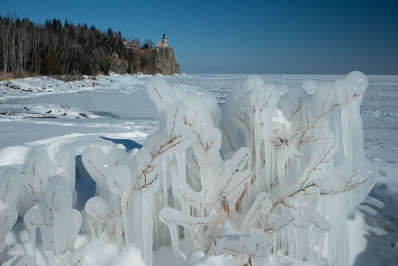 Ice at Split Rock Lighthouse St. Pk.