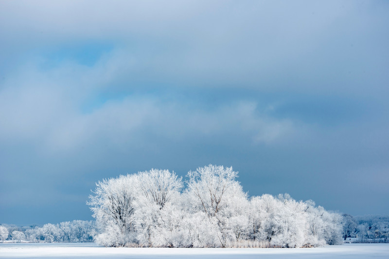 Hoar Frost on Rice Lake