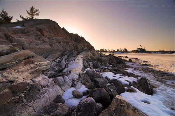 Lake Huron. Sagamok, Ontario.