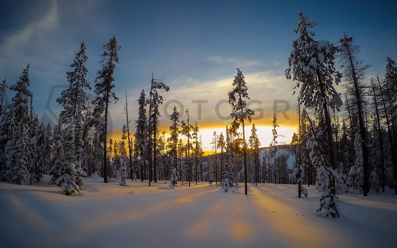 Last Light at Chief Joseph Pass, Montana