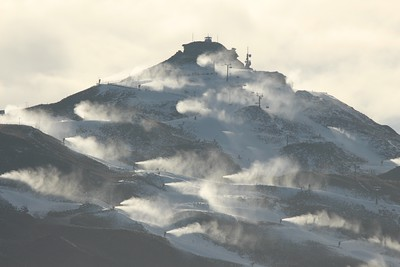 Early Morning Snow Making
