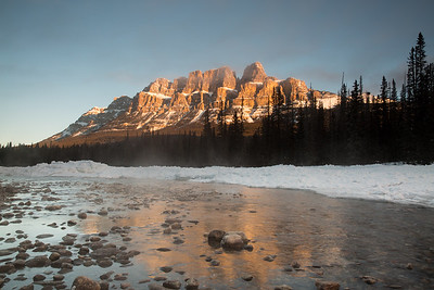 Sunrise at Castle Mountain