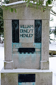Grave of William Ernest Henley, St John's Church, Cockayne Hatley