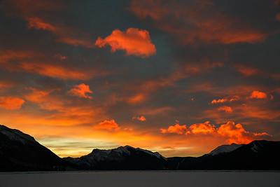 Winter Sunrise in Canmore, Alberta