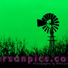 Windmill in a Farm Field in rural Wisconsin - Green