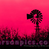 Windmill in a Farm Field in rural Wisconsin - Red
