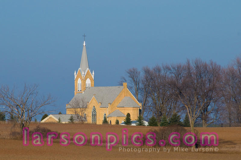 Church in Rural Farm Country, Wisconsin