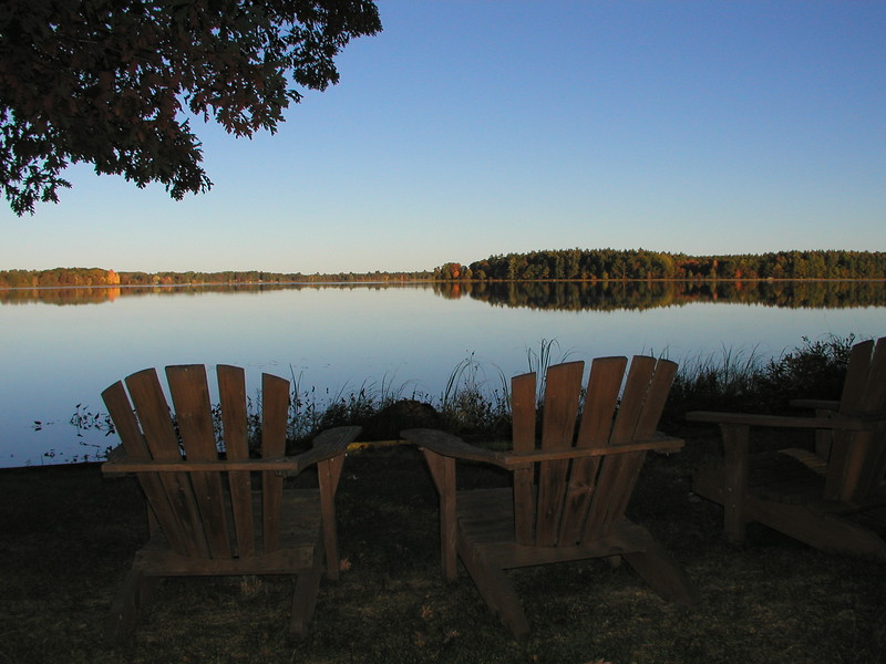 "The best seating for natures ""big show"" on Burch Island Lake."