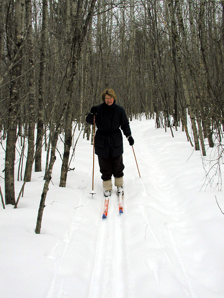 Bette Borman on the cross country ski trail that bordered our property.