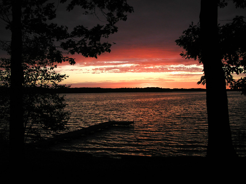 Sunset on Birch Island Lake in Wisconsin