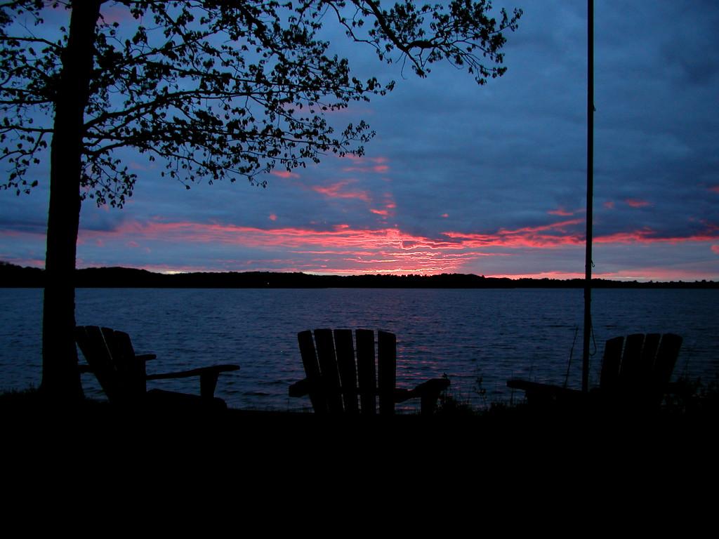 Sunset on Birch Island Lake in Wisconsin