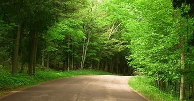 Rural scenic drive in Wisconsin