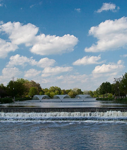 Waukesha Fox River Waterfall