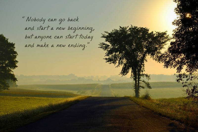 Nobody can start a new beginning