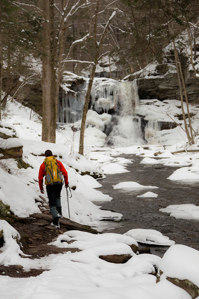 A new years day hike at Ricketts Glen State Park.
