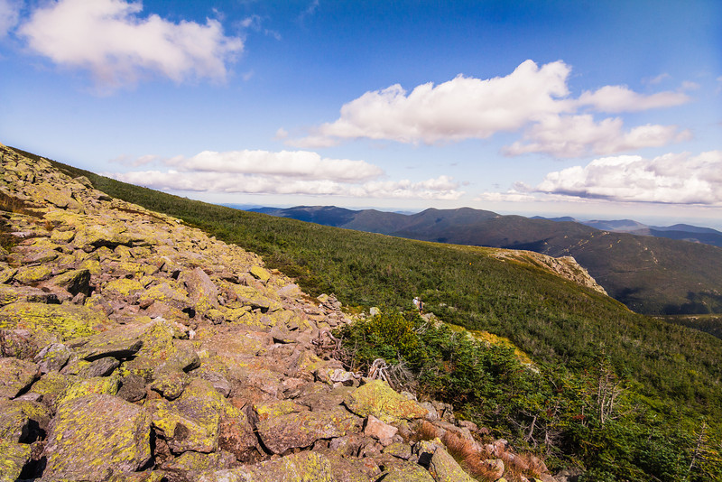 The view from Mount Washinton in New Hampshire was quite beautiful this sunny August day. I think were were there the Saturday before Labro day. We had a great hike up the Huntington Ravine side out the mountain. If you get the chance you should visit. You will love it!