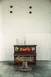 Piano artwork by New Zealand artist Krystie Wade.