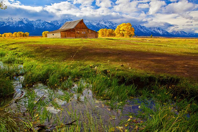 Wyoming, Grand Teton National Park, Mormon Barns , Fall Colors, 怀俄明, 大提顿国家公园, 秋色