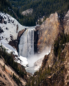 Lower Falls with Snow