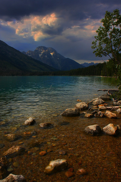 Late Afternoon, Jenny Lake, Grand Teton NP, Wyoming