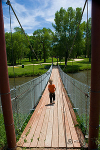 Eli on Swinging Bridge