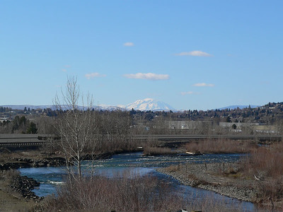 Mt. Adams in the distance from Yakima, WA.