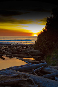 Sunset at Beverly Beach State Park, Oregon Coast