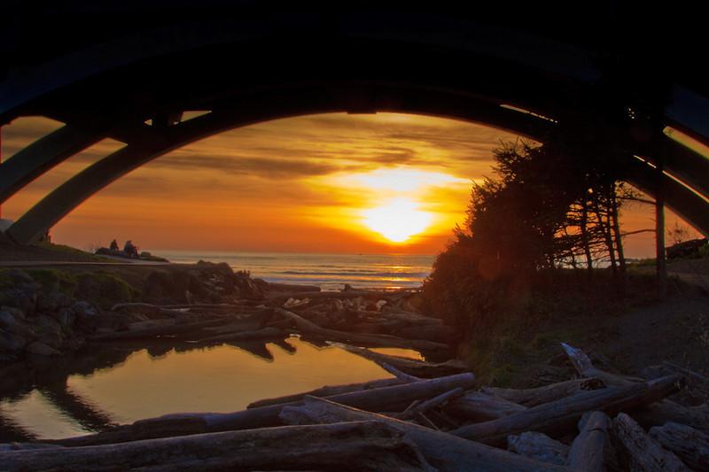 Sunset at Beverly Beach State Park, Oregon Coast