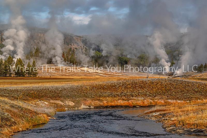 Morning Landscape In Upper Geyser Basin