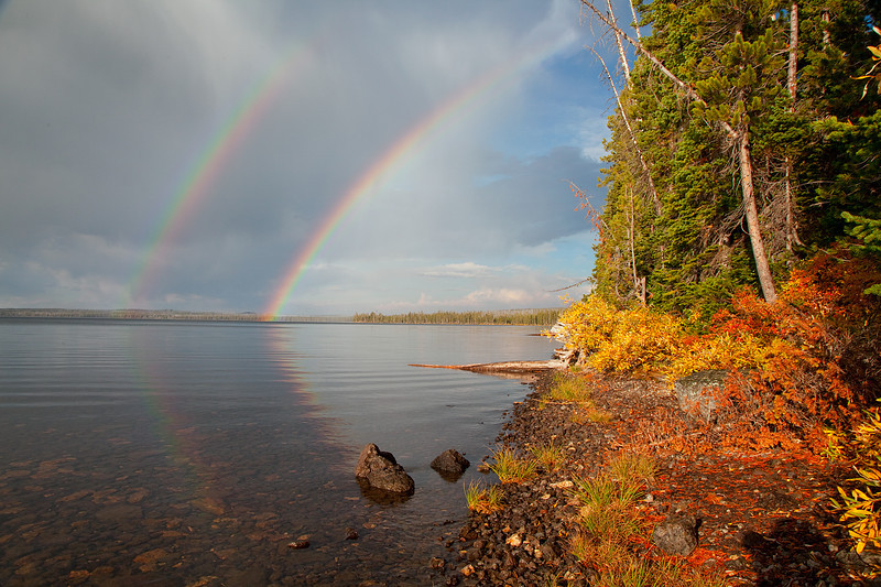 Lewis Lake Double Rainbow