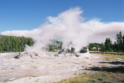Grotto Geyser.  September 2009