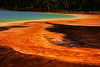 Runoff Detail, Grand Prismatic Spring, Midway Geyser Basin