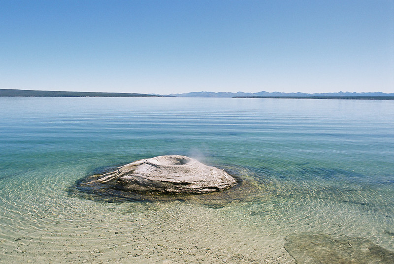 Fishing Hole, Yellowstone Lake.  September 2009.