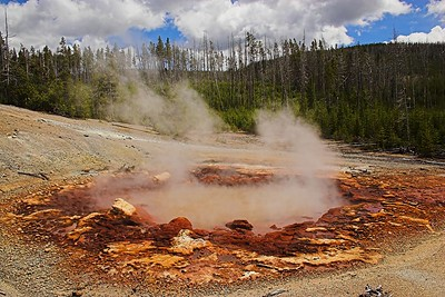 """In the Norris Geyser Basin"""