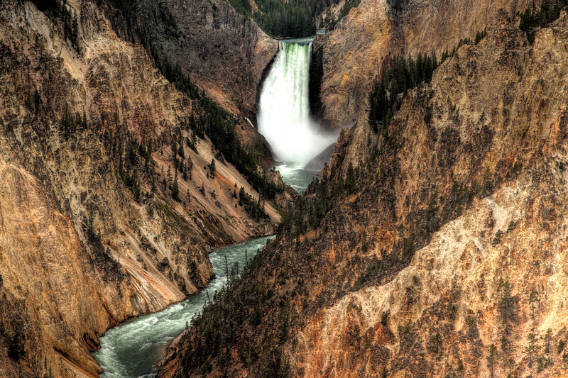 Lower Falls, the Yellowstone River, and the Grand Canyon of the Yellowstone